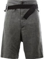 Ann Demeulemeester drawstring shorts - men - Cotton/Linen/Flax - XS