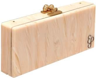 Edie Parker ivory marble slim clutch