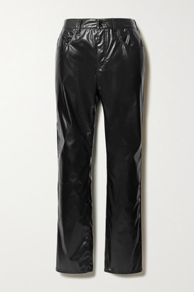 MM6 MAISON MARGIELA Vinyl Straight-leg Pants - Black