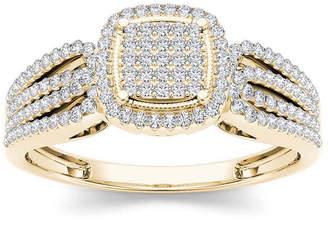 MODERN BRIDE 1/3 CT. T.W. Diamond 10K Yellow Gold Engagement Ring