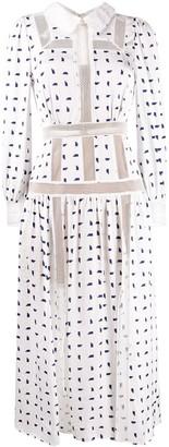 Self-Portrait geometric dot-print shirtdress