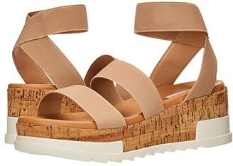 Steve Madden Bandi Wedge Sandal (Blush) Women's Shoes