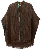 Wehve - Antartica Fringed Merino Wool-blend Cardigan - Womens - Brown