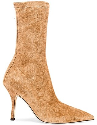 Paris Texas Suede Mama 95 Ankle Boot in Tan