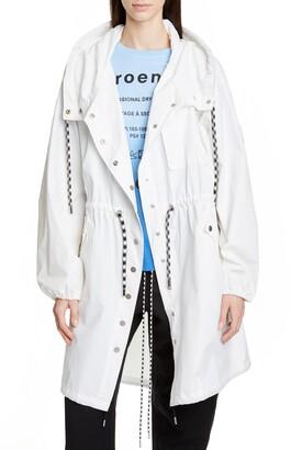 Proenza Schouler White Label Crinkle Drawstring Waist Coat