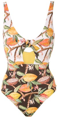 BRIGITTE Two Tone Printed Swimsuit