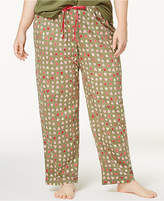 Hue Plus Size Heart-Print Cotton Pajama Pants