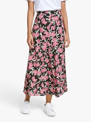 Just Female Alda Floral Print Skirt, Romantic Flower