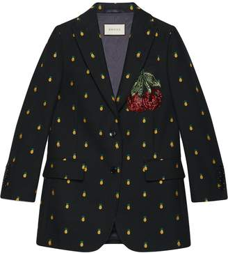 Gucci Pineapple fil coupé wool jacket