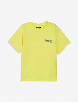 Balenciaga Political logo-print cotton-jersey T-shirt 4-10 years