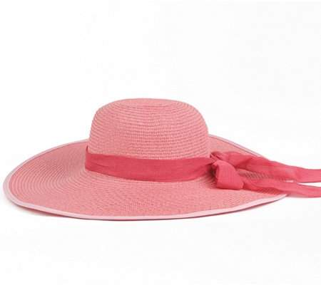 9e5a0318b13395 Straw Hat With Ribbon - ShopStyle