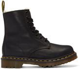 Dr. Martens Black Fur-Lined Serena Boots