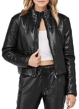 David Lerner Bella Faux Leather Puffer Jacket