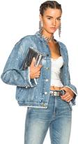 Alexandre Vauthier Crystal Studded Denim Jacket in Blue.