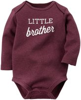 Carter's Slogan Bodysuit (Baby) - Little Brother-9 Months