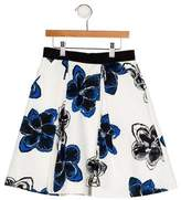 Milly Girls' Floral Print Skirt w/ Tags