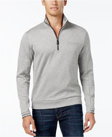 HUGO BOSS Green Men's Parthenon Quarter-Zip Sweater