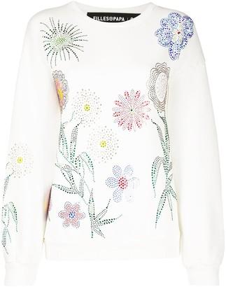 Filles a papa Georgia crystal-embellished cotton sweatshirt