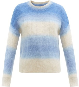 Etoile Isabel Marant Drussel Gradient-stripe Mohair-blend Sweater - Blue Multi