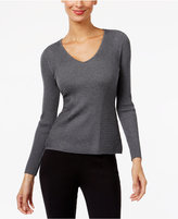 INC International Concepts Ribbed V-Neck Sweater, Only at Macy's
