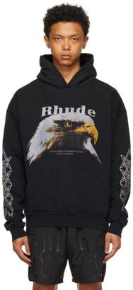Rhude Black Bald Eagle Hoodie