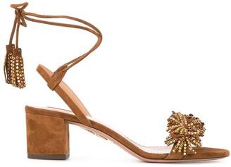 Aquazzura crystal anke strap sandals