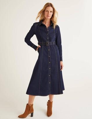 Boden Mira Denim Midi Dress