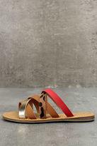 Bamboo Angelique Leopard Print Sandals
