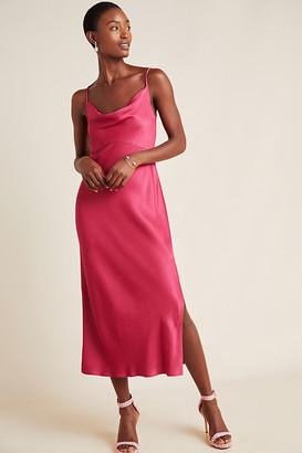 Anthropologie Bias Slip Dress By in Purple Size L