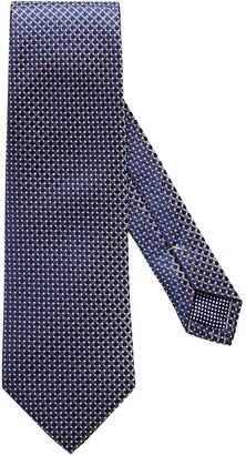 Eton Brown Geometric Silk Tie