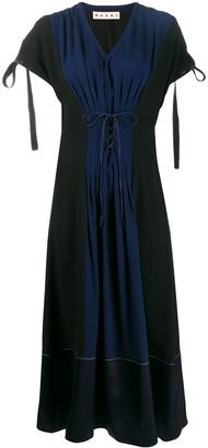 Marni Pleated Corset Dress
