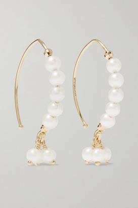 Mizuki 14-karat Gold Pearl Earrings - one size