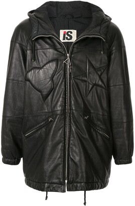 Issey Miyake Pre-Owned 1980's Sport Line padded logo leather jacket