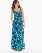 Soma Intimates Sleeveless Wrapped Waist Maxi Dress Tie Dive Dynasty RG