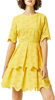 Warehouse Broiderie Dress, Yellow