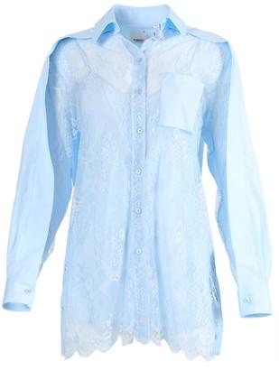 Burberry Light Blue Lace Blouse