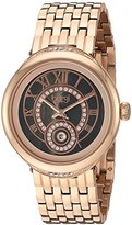 Burgi Women's Black Mother-of-Pearl Dial with Swarovski Crystal Accented Rose-Tone Bezel and Rose-Tone Stainless Steel Bracelet Watch BUR164RG