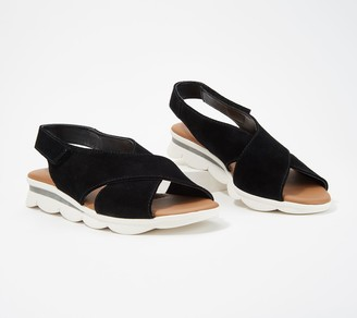 The Flexx Leather Cross-Band Back-Strap Sandals - Capri