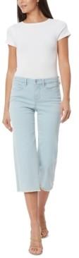 NYDJ Wide-Leg Frayed-Hem Cropped Jeans