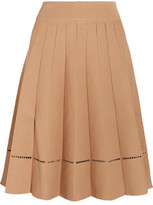 A.L.C. Nicole Embroidered Stretch-Jersey Skirt