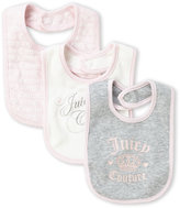 Juicy Couture Newborn/Infant Girls) 3-Pack Heart Bibs