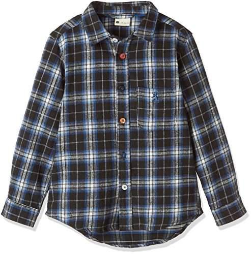 Giordano (ジョルダーノ) - (ジョルダーノ)GIORDANO シャギーネルチェックシャツ GD17AW10-K003 ブラックチェック1 110