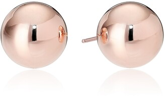 Amazon Essentials Rose Gold Plated Sterling Silver Polished Ball Stud Earrings (8mm)
