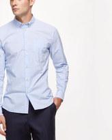 Cotton Horizontal Stripe Slim Shirt