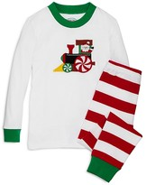 Sara's Prints Infant Unisex Striped Santa Car Pajama Set - Sizes 12-24 Months