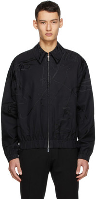 Sean Suen SSENSE Exclusive Black Embroidered Jacket