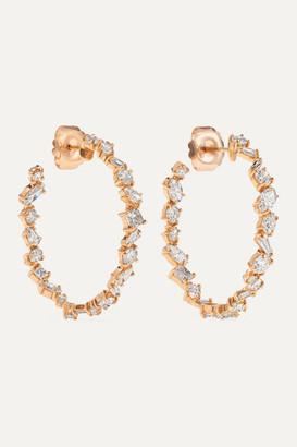 Kimberly McDonald - 18-karat Rose Gold Diamond Hoop Earrings