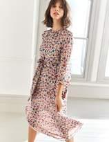 Boden Grace Silk Midi Dress