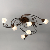 John Lewis Carmela Ceiling Light, 6 Arm