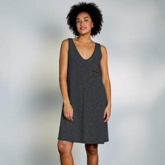 The White Company Cotton Stripe Swing V-Neck Dress, White/Black, 6